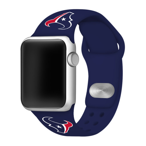 NFL Houston Texans Navy Blue Silicone Band 42/44mm for Apple Watch