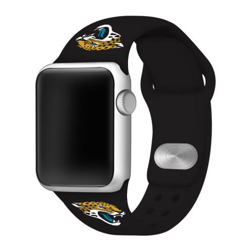 NFL Jacksonville Jaguars Black Silicone Band 42/44mm for Apple Watch