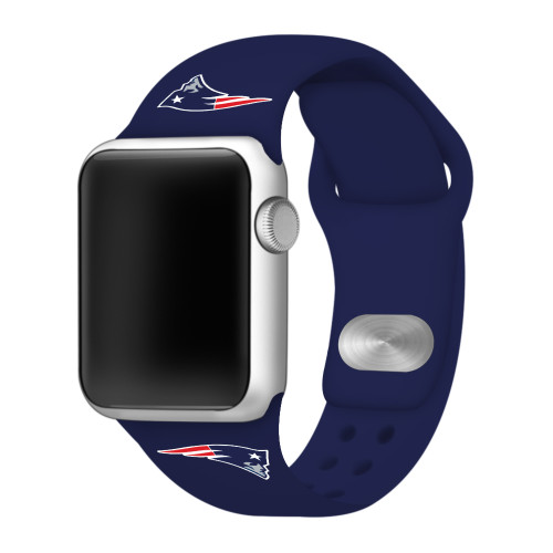 NFL New England Patriots Navy Blue Silicone Band 42/44mm for Apple Watch