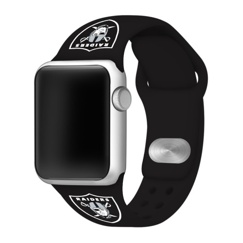NFL Las Vegas Raiders Black Silicone Band 42/44mm for Apple Watch