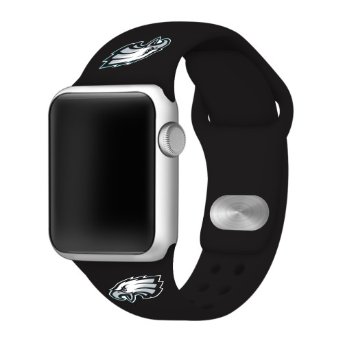 NFL Philadelphia Eagles Black Silicone Band 42/44mm for Apple Watch
