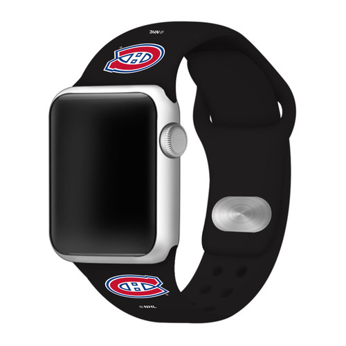 NHL Montreal Canadiens Black Silicone Band 42/44mm for Apple Watch