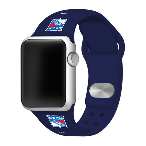 NHL New York Rangers Navy Blue Silicone Band 42/44mm for Apple Watch