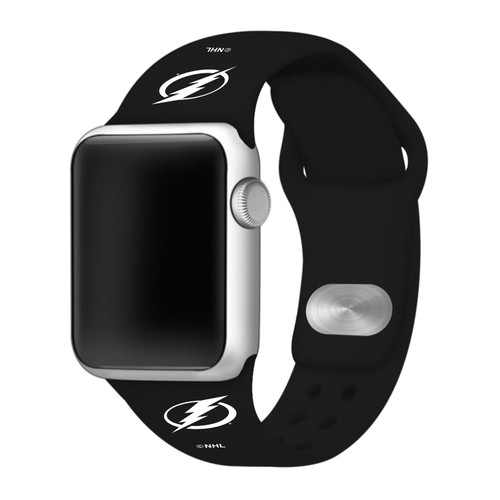 NHL Tampa Bay Lightning Black Silicone Band 42/44mm for Apple Watch