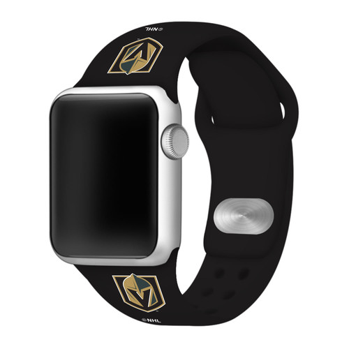 NHL Vegas Golden Knights Black Silicone Band 42/44mm for Apple Watch