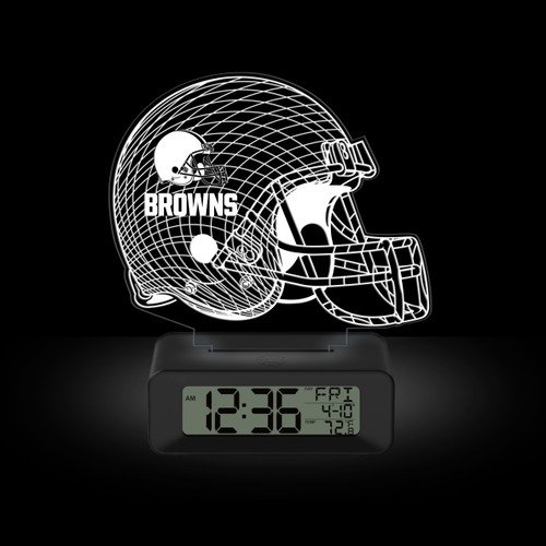 LED DESK CLOCK CLEVELAND BROWNS