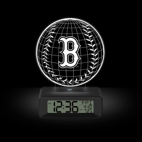 LED DESK CLOCK BOSTON RED SOX B LOGO
