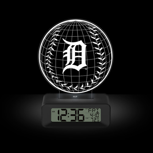 LED DESK CLOCK DETROIT TIGERS