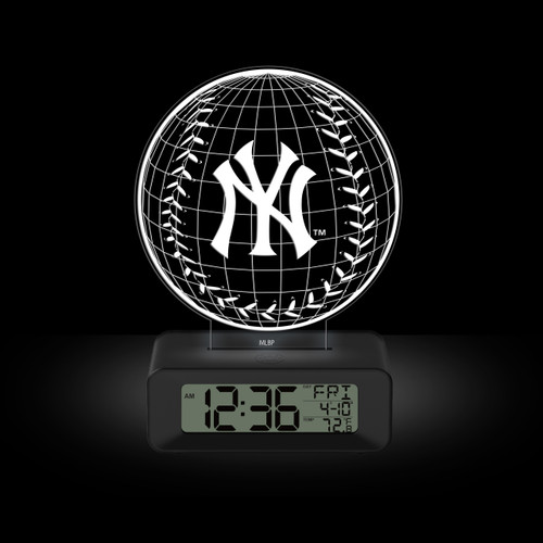 LED DESK CLOCK NEW YORK YANKEES PINSTRIPE