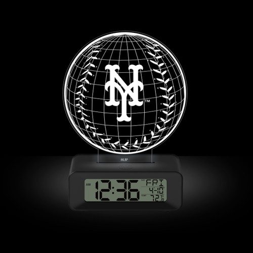 LED DESK CLOCK NEW YORK METS