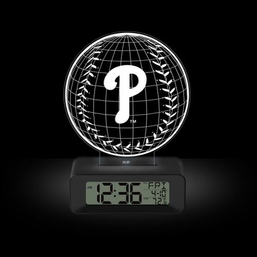 LED DESK CLOCK PHILADELPHIA PHILLIES P LOGO