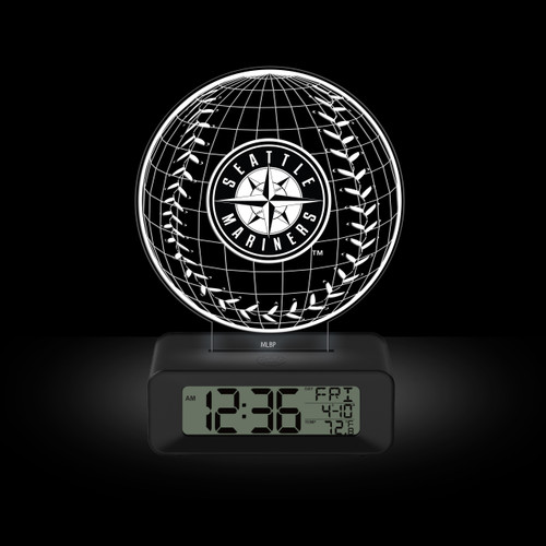 LED DESK CLOCK SEATTLE MARINERS