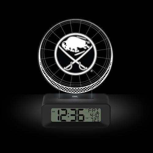LED DESK CLOCK BUFFALO SABRES