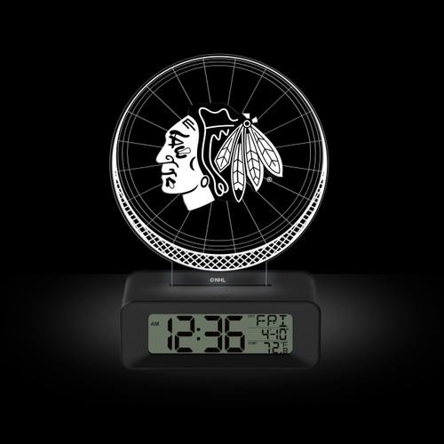 LED DESK CLOCK CHICAGO BLACKHAWKS
