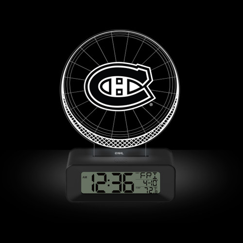 LED DESK CLOCK MONTREAL CANADIENS