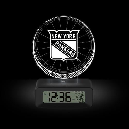 LED DESK CLOCK NEW YORK RANGERS