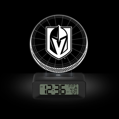 LED DESK CLOCK VEGAS GOLDEN KNIGHTS