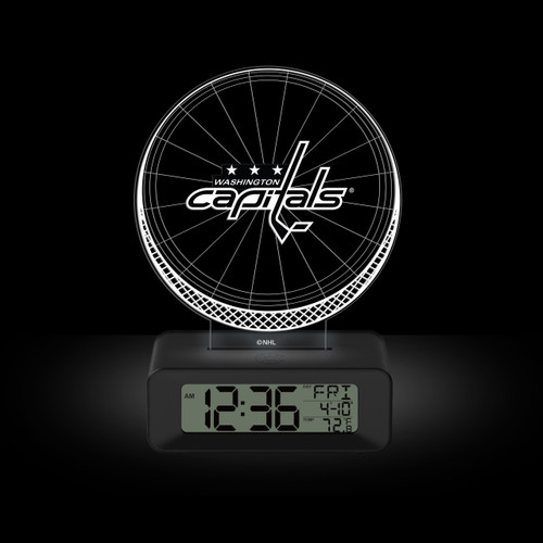 LED DESK CLOCK WASHINGTON CAPITALS
