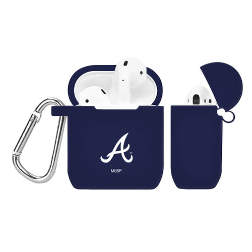 Atlanta Braves Silicone AirPods Case Cover Navy Blue