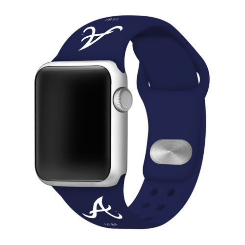 Atlanta Braves Silicone Apple Watch Band 38mm/40mm Navy Blue