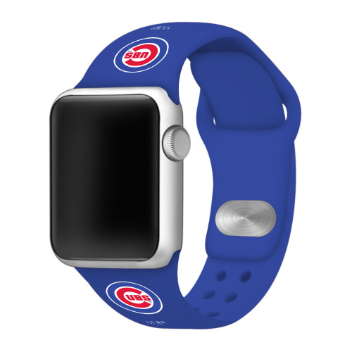 Chicago Cubs Silicone Apple Watch Band 38mm/40mm Royal Blue