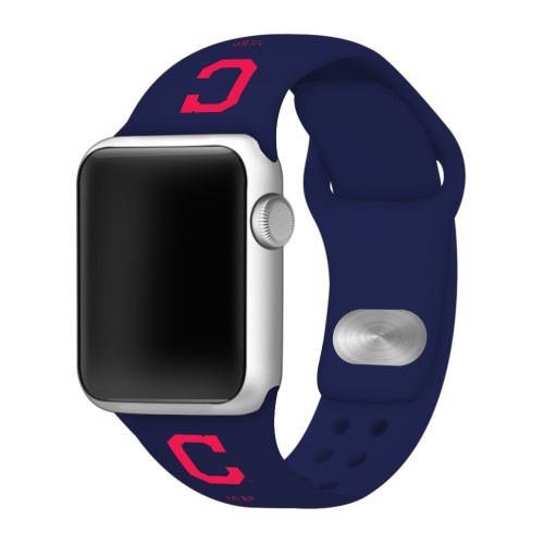 Cleveland Indians Silicone Apple Watch Band 42mm/40mm Navy Blue