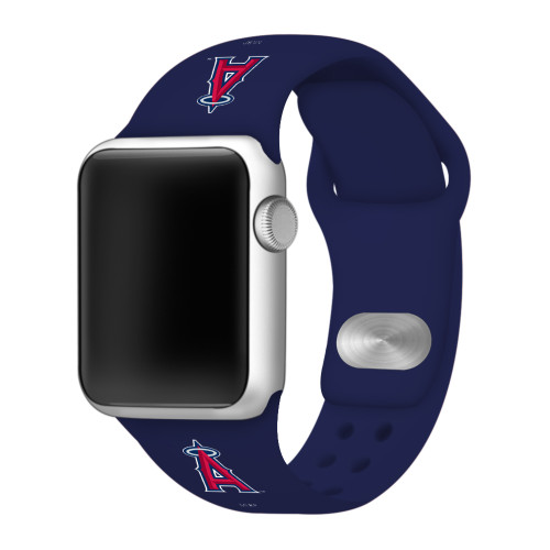 Los Angeles Angels Silicone Apple Watch Band 38mm/40mm Navy Blue