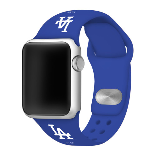 Los Angeles Dodgers Silicone Apple Watch Band 42mm/40mm Royal Blue