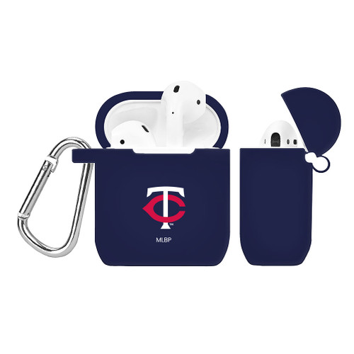 Minnesota Twins Silicone AirPods Case Cover Navy Blue