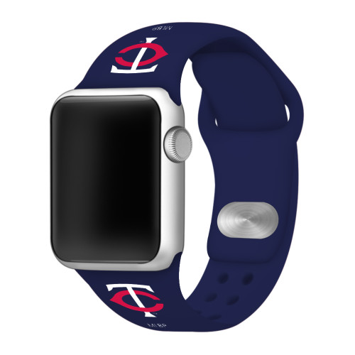 Minnesota Twins Silicone Apple Watch Band 42mm/40mm Navy Blue