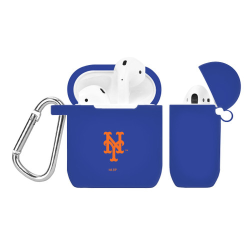 New York Mets Silicone AirPods Case Cover Royal Blue