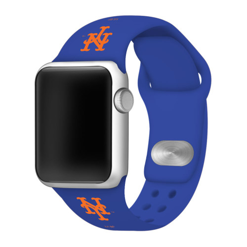 New York Mets Silicone Apple Watch Band 42mm/40mm Royal Blue