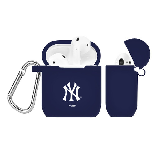 New York Yankees Silicone AirPods Case Cover Navy Blue