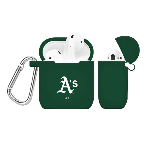 Oakland Athletics Silicone AirPods Case Cover Green