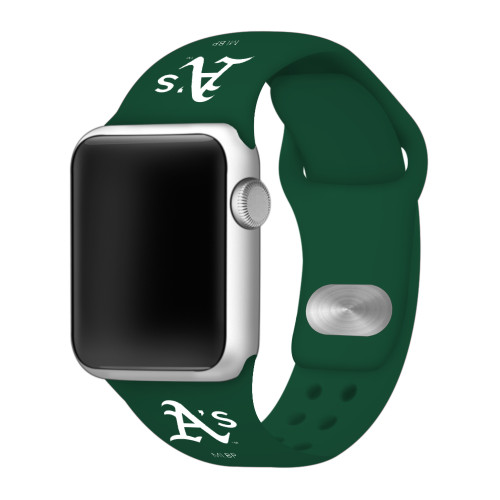 Oakland Athletics Silicone Apple Watch Band 42mm/40mm Green