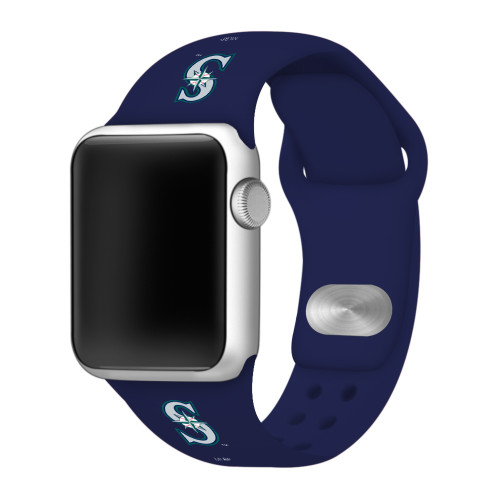 Seattle Mariners Silicone Apple Watch Band 38mm/40mm Navy Blue