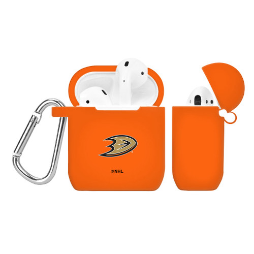 ANAHEIM DUCKS SILICONE AIRPODS CASE COVER