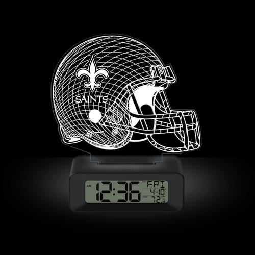 LED DESK CLOCK NEW ORLEANS SAINTS