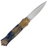 W.D. Pease Custom Dagger Lock Back Mokume Siberian Mammoth Ivory 03M18