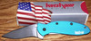 Kershaw Scallion Assisted Liner Lock Blue Handle Black Blade 1620BLBLK