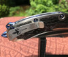 Marfione Custom Super Matrix R Frame Lock Mirror Polish Blade Hand Rubbed Titanium Handle w/ TPT Carboquartz Inlays Blue Ringed Titanium Hardware SN#001