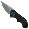 Zero Tolerance 0022 Galyean Frame Lock Flipper Carbon Fiber Titanium Handle Stonewash Blade