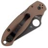 Spyderco Para 3 Compression Lock Earth Brown G-10 Handle DLC Blade C223GPBNBK