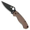 Spyderco Para Military 2 Compression Lock Earth Brown G-10 Handle DLC Blade C81GPBNBK2