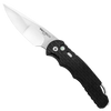 Pro-Tech TR-4 Custom Feather Textured Black Handle Hand Compound Ground Mirror Polish Blade Limited Edition