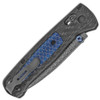 Benchmade Bugout Axis Lock Ghost Carbon Fiber w/ Blue C-Tek Handle Munin Damasteel Blade Gold Class 535-191