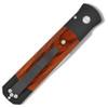 Pro-Tech Godfather Black w/ Cocobolo Wood Handle Satin Blade 906-C