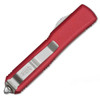 Microtech Ultratech D/E Contoured Red Satin Full Serrated 122-6RD