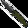 Kershaw Bareknuckle Frame Lock Flipper Olive Green Handle BlackWash Blade 7777OLBW