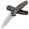 Benchmade Vector Axis Lock Assisted Flipper OD Green G-10 Handle Satin Compound Ground Blade 496